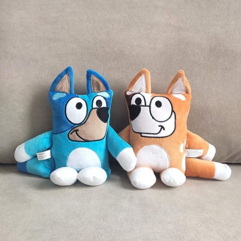 Cartoon Animation Bluey Bingo Plush Toy Stuffed Animal Dog Dolls Lovely Puppy Toys For Children 2-4 Years Birthday Gift Cotton
