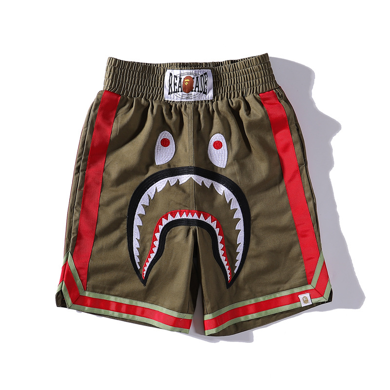 19ss European And American Streets Spring And Summer New Style Sharks Green Qualified Workwear Boxing Shorts Casual Pants