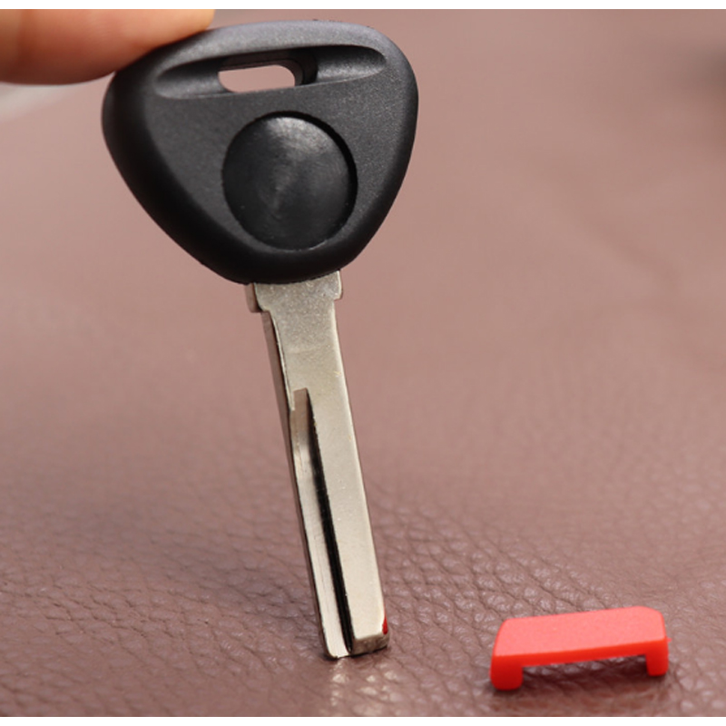 DAKATU Transponder <font><b>Key</b></font> shell with Red plug For <font><b>Volvo</b></font> <font><b>S40</b></font> V40 S60 S80 XC70 <font><b>Replacement</b></font> Car <font><b>Key</b></font> Shell Case HU56R Blade image