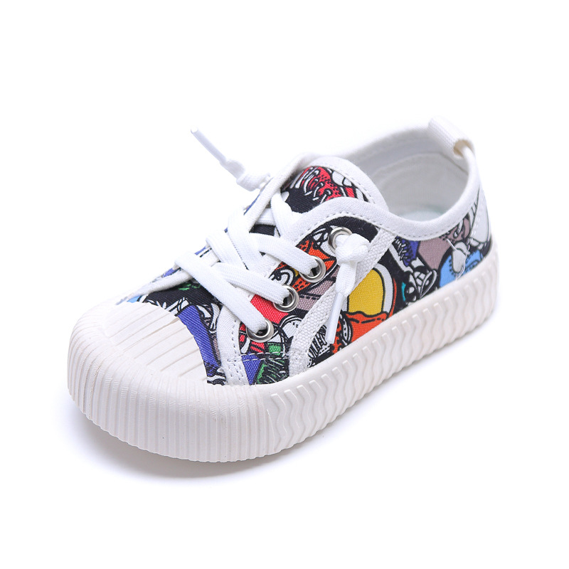 2020 Spring Kids Canvas Shoes For Boy Girls Canvas Shoes Baby Girls Sneakers Toddler Shoes Running Sport Kids Casual Sneskers