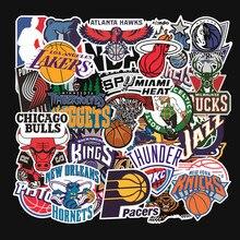 32 adet/takım basketbol takımı logosu standart tekerlekli çanta çıkartmalar su geçirmez etiket graffiti Lakers Warriors bulls