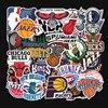 32 pcs/set Basketball team logo standard trolley case stickers waterproof sticker graffiti Lakers Warriors bulls