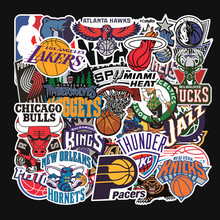 32 stks/set Basketbal team logo standaard trolley case stickers waterdichte sticker graffiti Lakers Warriors bulls