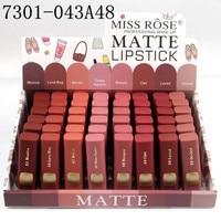Miss Rose 48PCS/LOT Lipstick Matte Waterproof Makeup Matte Lipsticks Cosmetics Sexy Red Lip Tint Nude Lipstick Matte Batom Lips