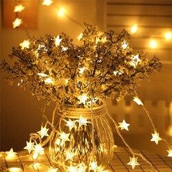 Sterne Girlanden 50 Led String Licht Außen Lichterkette Solar Lampen für Garten Wasserdichte Outdoor Beleuchtung Haus Hof Weihnachten