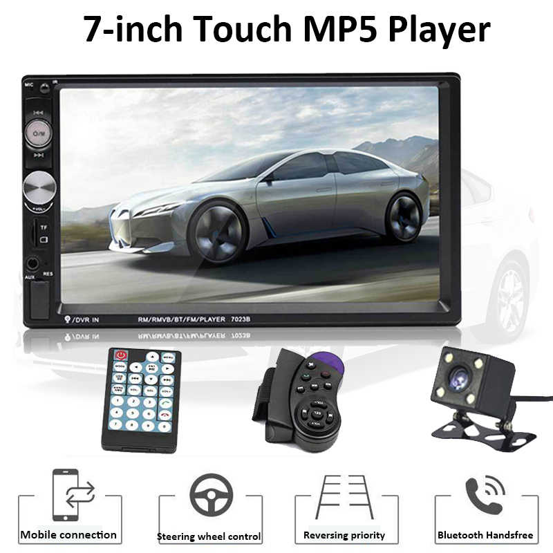 "Universale Car Multimedia Player 2 Din auto Stereo 7 ""Touch Screen Video Bluetooth MP5 Lettore Del Telefono di Ricarica Con MP3 / WMA/OGG"