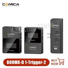 Comica BoomX D D2 2.4G Digital Wireless Microphone System Lavalier Lapel Mobile Microphone Transmitter Receiver kit