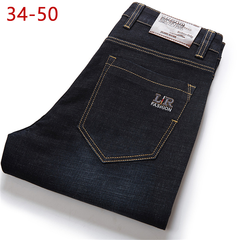34-50 Large Size 2019 Hot Sale Classic Jeans Male Work Denim Pants Men Full Length High Quality Leisure Trousers HLX155