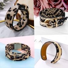 EN – Bracelets léopard serpent à la mode pour femmes, Bracelet à boutons EN métal, large, bijoux de grande déclaration, cadeaux