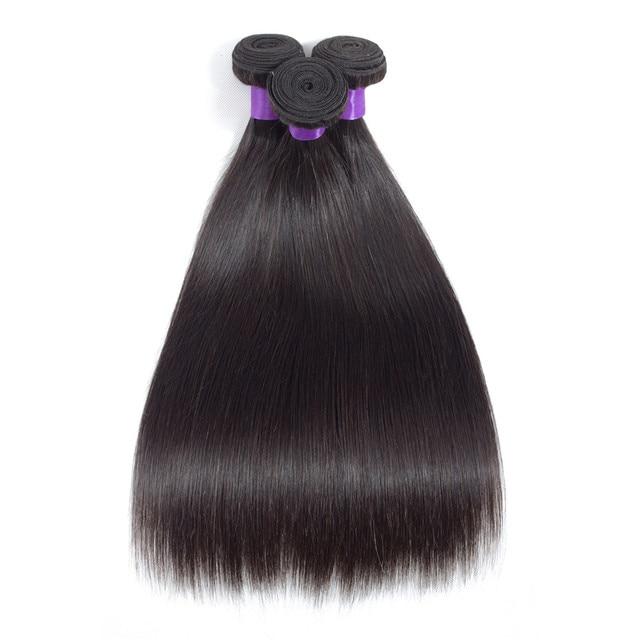 Прямые бразильские волосы пряди из 100% натуральных волос 5