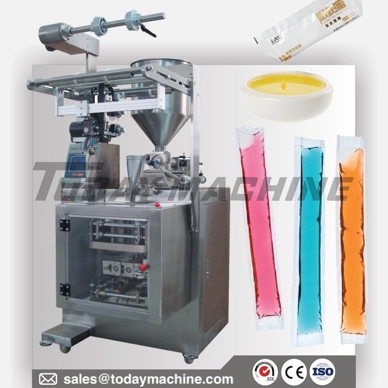 Liquid Sachet Honey Tomato Paste Salad Sauce Stick Pouch Packing Machine DXD-280P