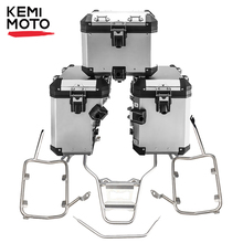 For BMW R1200GS R1250GS LC Pannier System Side and Top Boxes with Stainless Steel Racks for BMW GS 1200 GS LC 2014 2018