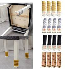 4pcs Knitting Cat Style Chair Leg Socks Floor Protectors For Furniture Legs Non-slip Table Prevent Pet Dog Scratching