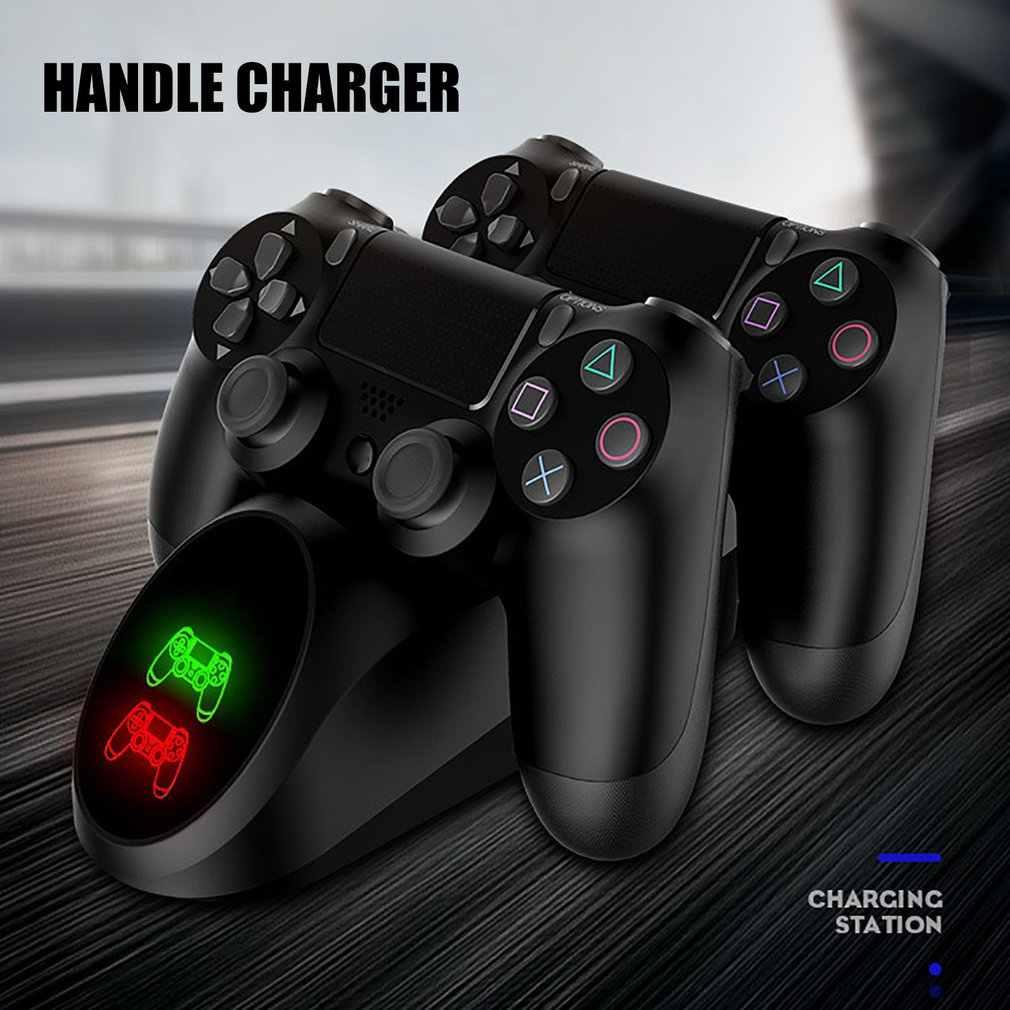 PS4 Game Controller Joypad Joystick Handle USB Charger Dual Usb Cepat Pengisian Dock Station untuk PlayStation 4 PS4 Slim/ PS4 Pro