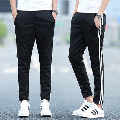 2018 Casual Athletic Pants Closing Foot Harem Pants Men Running Beam Leg Trousers Sweatpants Trend