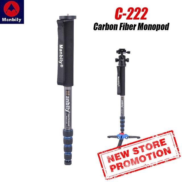 Manbily C 222Professional Sợi Carbon Monopod Di Động Ảnh Du Lịch Chân Đế Tripod Căn Cứ Đầu Bóng cho Kỹ Thuật Số DSLR Camera