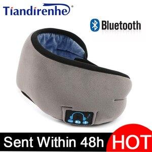 Image 1 - 2020 produttori wireless Bluetooth v5.0 CE cuffia chiamata musica sonno artefatto traspirante sonno maschera per gli occhi cuffia dropship