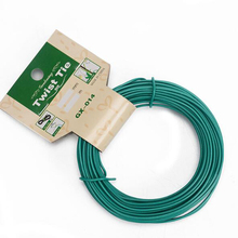 15M Tuin Draad Zware Groen Gecoat Plant Twist Tie Tuin Training Wire Bonsai Outlet Draad voor Holding Tak 1.8mm * 15M