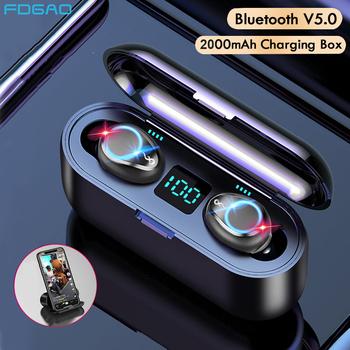 Mini TWS Bluetooth V5 0 słuchawki słuchawki bezprzewodowe słuchawki 9D Hifi sport wodoodporne bezprzewodowe słuchawki słuchawki douszne tanie i dobre opinie FDGAO Dynamiczny CN (pochodzenie) Prawda bezprzewodowe 42dB Do Gier Wideo Wspólna Słuchawkowe Dla Telefonu komórkowego