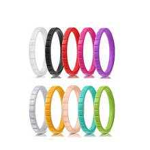10pcs/lot Eco-Friendly Engagement Silicone Rings for Women Mens Wedding Finger Rubber Bands Crossfit Silicon