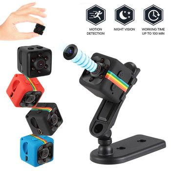 SQ11 Mini Camcorders Webcam 1080P Web Camera Night Vision Car DVR Camera Wide Angle Web Cam Camcorders Support Hidden TF Card image