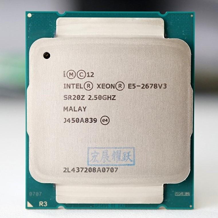 Intel Xeon Processor E5 2678 V3  CPU 2.5G Serve LGA 2011 3  E5 2678 V3 2678V3 PC Desktop processor CPU For X99 motherboard|CPUs|   - AliExpress