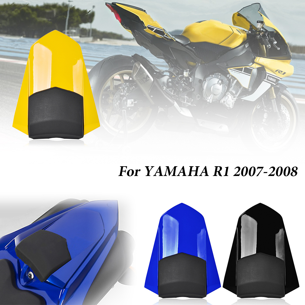 Motorcycle Rear Pillion Passenger Hard Seat Cover Cowl Fairing for Yamaha YZF <font><b>R1</b></font> YZF-<font><b>R1</b></font> <font><b>2007</b></font> 2008 Motorbike Parts image