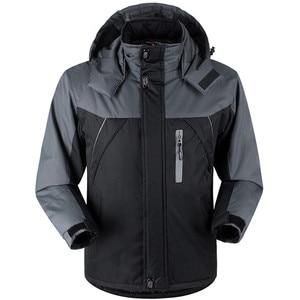 Image 3 - Winter Parka Men Plus Velvet Warm Windproof Coats Mens Military Hooded Jackets Casaco Masculino Casacos Mens Outwear Overcoat