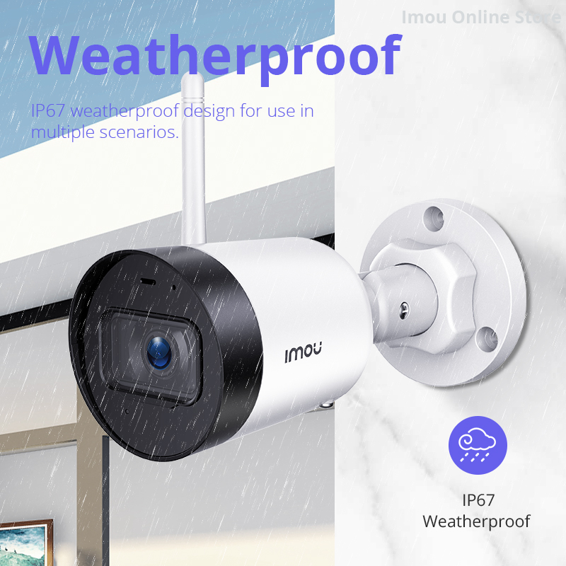 Dahua 4MP Outdoor WIFI Microphone Alarm Imou Bullet Lite Mini CCTV AI Home Security IP Cam Waterproof Night Vision 30M Distance