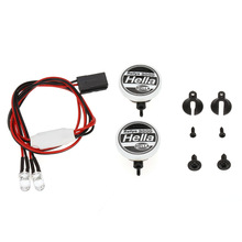 NEWKBO 4pcs RC Car Multi Function Round LED Light with Lampshade for 1 10 SCX10 D90