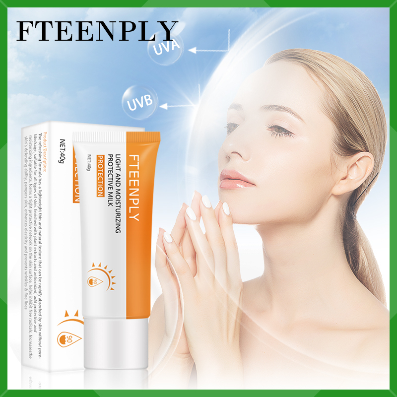FTEENPLY Facial Body Sunscreen Cream Sun Screen Whitening  Anti-Aging Oil-control Moisturizing Protetor Solar Sun Cream SPF 90+