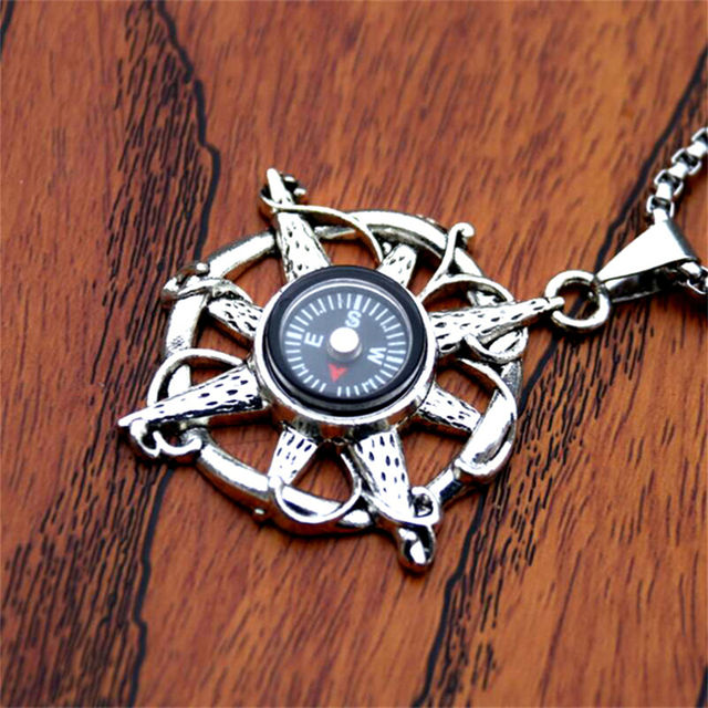 NAVY COMPASS THEMED NECKLACE (4 VARIAN)