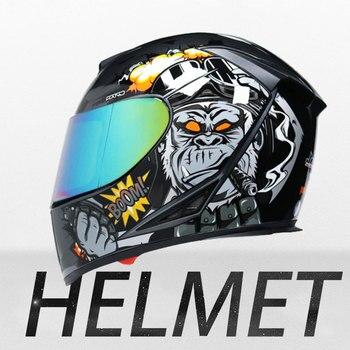 Hot selling Motorcycle Helmet Full Face Casco Moto Washable Lining Double Visor Motocross Helmet Motorbike Capacete Moto Helmets цена 2017