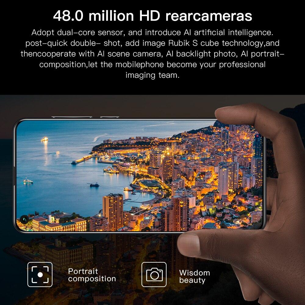 celular 5800mah smartphone tela cheia deca núcleo