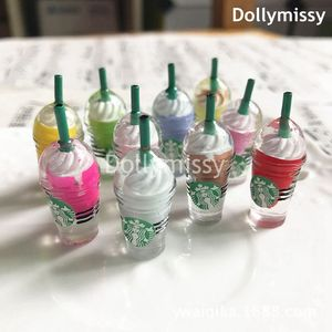 6PCS Dollhouse Miniature 1:6 Scale Ice-cream Coffee Cup Drink Pretend food Dollhouse Decor for 1/6 Doll Kitchen Toys(China)