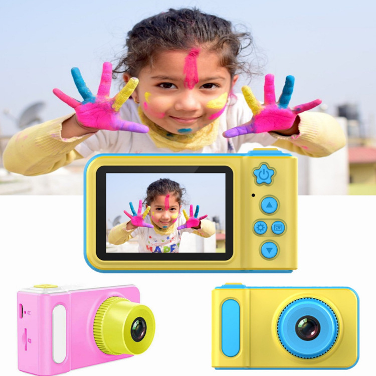 Cute Camera Toy Mini Children Camera Kids Digital Camera Educational Toy 1080p HD 2inch Large Screen Outdoor For Birthday Gift