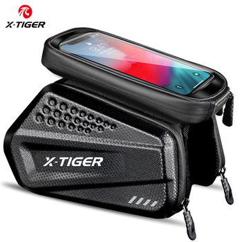 X-TIGER Rainproof Cycling Bag Shockproof Reflective Bike Bag Frame Front Phone Case Touchscreen MTB Bicycle Bag Accessories