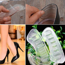 1 пара невидимых силиконовых Противоскользящих подушек на высоком каблуке с задней подкладкой для обуви, силиконовые стельки для обуви