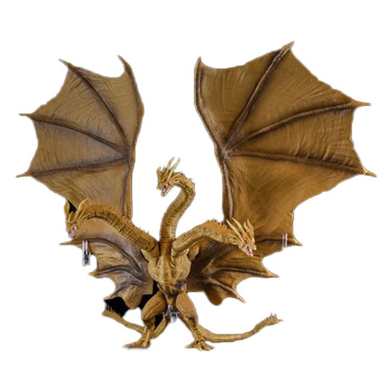 2019 nouvelle Version film Gojira 3 têtes Dragon d'or roi Ghidorah Joints mobiles PVC figurine à collectionner modèle jouets