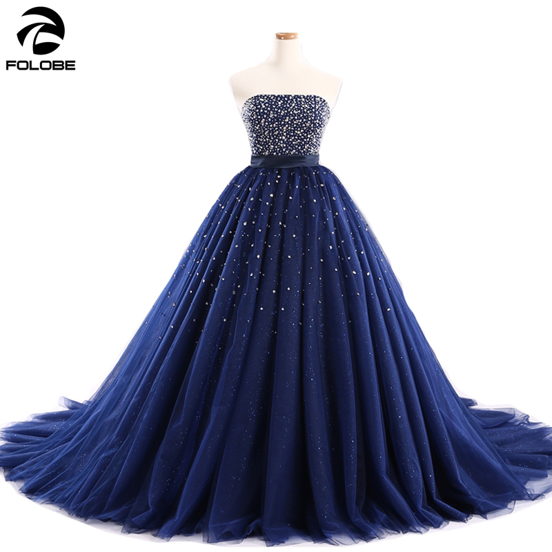 Real Photo Strapless Quinceanera Dresses Ball Gown Beaded Sequin Lace Up Sweet 16 Dress For 15 Years Debutante Gowns