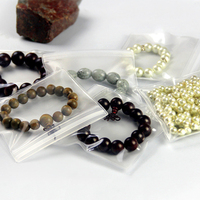 150Pcs EVA Anti oxidation Jewelry Packaging Plastic Poly Bag Transparent Matte Clear Zipper Ziplock Pearl Earring Jade Necklace