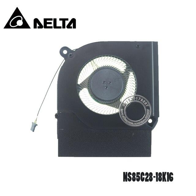 مروحة تبريد كمبيوتر محمول DC05V 1.00A NS85C28 18K16 6033B0072301 4Pin مؤشرة على شكل ورقة معدنية