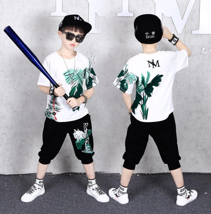 Baby Boy Clothing Sets Shirt + Shorts 2020 Summer Children's Clothes Boys Fashion Sports Clothing Suit Hiphop 5 <font><b>6</b></font> 8 <font><b>10</b></font> <font><b>12</b></font> years image
