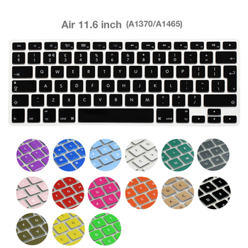 цена на Silicone EU Keyboard Cover Protector for MacBook Air 11 inch A1370 A1465 Laptop Waterproof Keyboard Cover Plain Ultra Thin