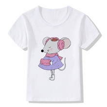 цена на Kids Cartoon mouse Print T Shirt Design Summer Tops Boys and Girls Casual Streetwear T-shirt