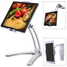 Besegad 태블릿 데스크 벽 스탠드 전화 홀더 브래킷 마운트 Rotatable 5 10.5 인치 아이폰 iPad 화웨이 Xiaomi 노트북 지원