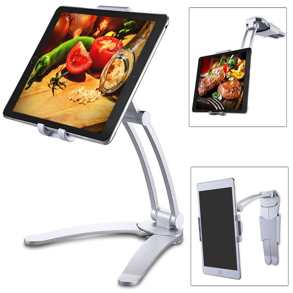 Besegad Tablet Desk Wall Stand Phone Holder Bracket Mount Rotatable for 5-10 5 inch iPhone iPad Huawei Xiaomi Notebook Support