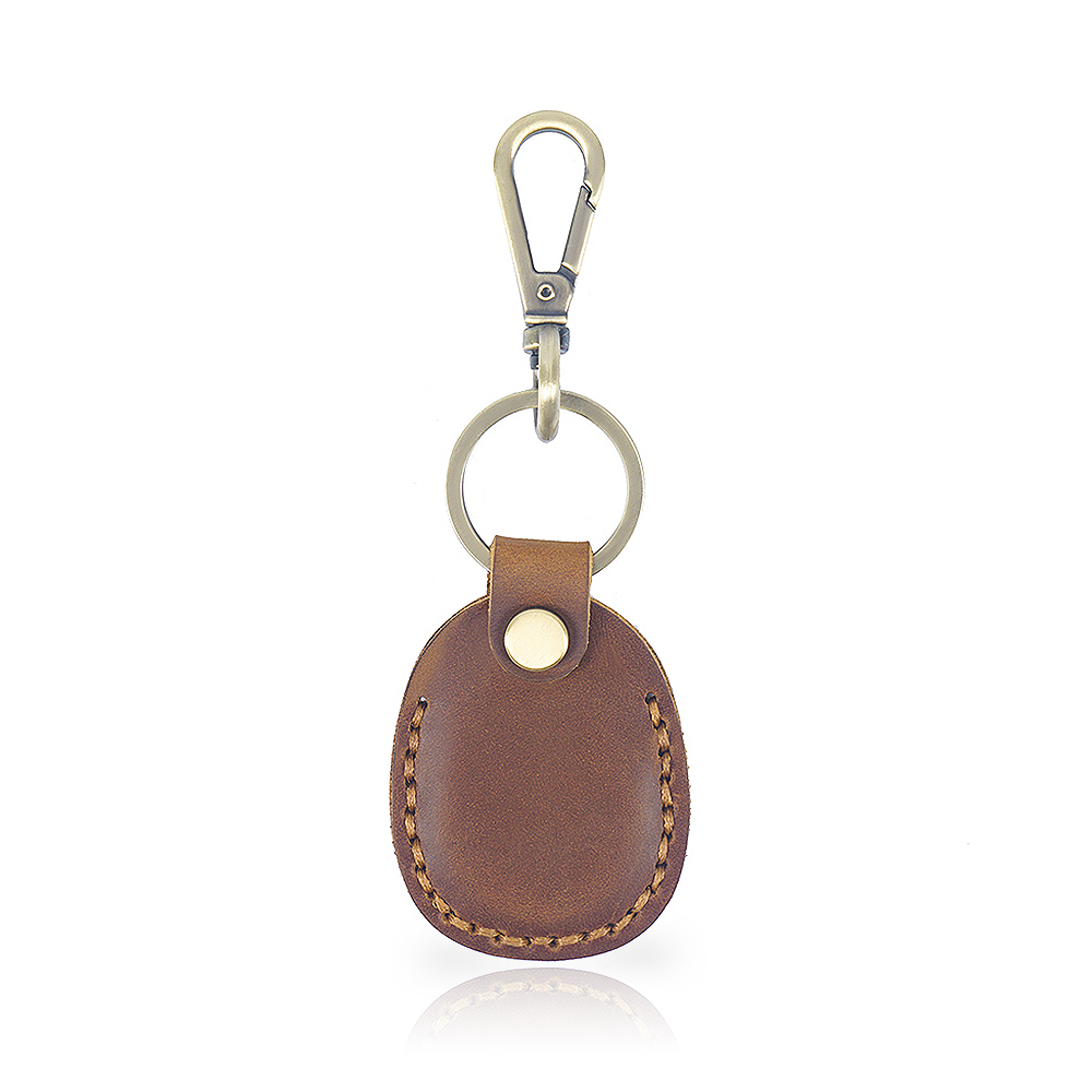 Genuine Crazy Horse Leather Key Holder Housek  eeper Key Access Entrance Guard Card protecter Portable with a Metal Hook