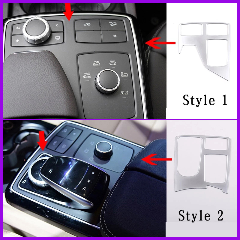 Araba kontrolü Panel merkezi konsol kapak Trim için Mercedes Benz ML320 2012 GLE W166 Coupe C292 350d GL X166 GLS AMG aksesuarları