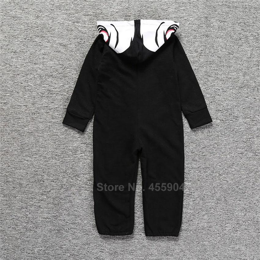 Halloween Skeleton Cosplay Costumes for Newborn Baby Hooded Romper Jumpsuit Novelty Scary Skull 3D Print Boys Gothic Bodysuit 5
